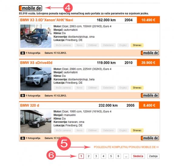 Pronađi ponudu automobila sajta Mobile.de na srpskom jeziku | Mojauto