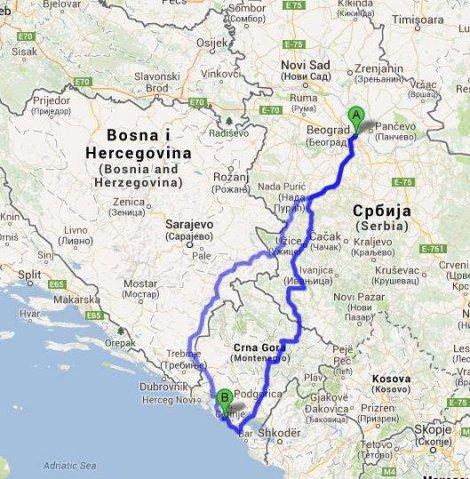 beograd bar mapa Automobilom na more: Tri puta za Crnu Goru, preko Žabljaka  beograd bar mapa
