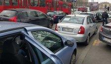Jutarnje gužve na autoputu na Novom Beogradu, ali i na Autokomandi