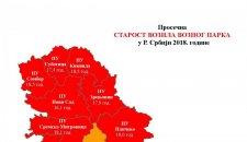 [CRVENO] Mapa prosečne starosti automobila u Srbiji